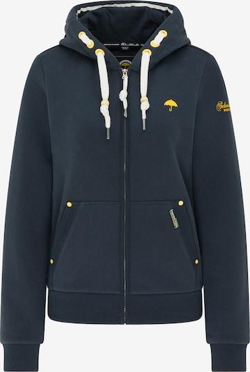 Schmuddelwedda Sweatjacke in marine / gelb / weiß, Produktansicht