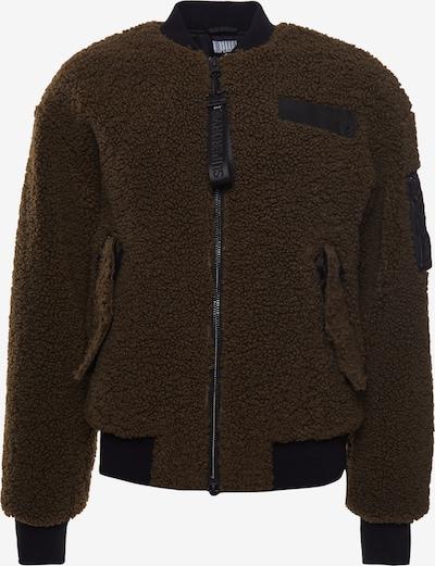 Superdry Jacke in khaki / schwarz, Produktansicht