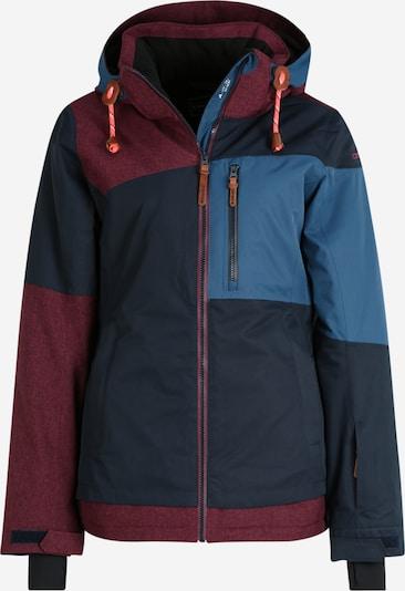 ICEPEAK Outdoorjas 'CATHAY' in de kleur Royal blue/koningsblauw / Donkerblauw / Wijnrood, Productweergave