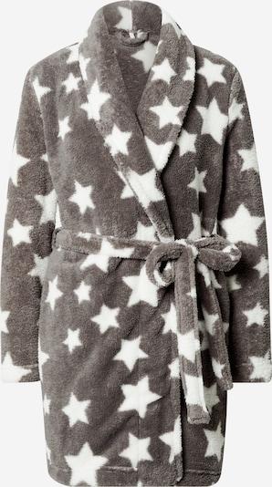 ONLY Badkappa kort 'CLEO ROBE' i grå / vit, Produktvy