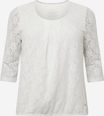 SAMOON Shirt 'Las Vegas' in Weiß