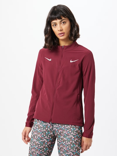 NIKE Jacke in weinrot: Frontalansicht