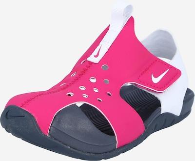 Nike Sportswear Claquettes / Tongs 'Sunray Protect 2' en bleu nuit / rose / blanc, Vue avec produit