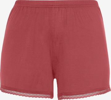 LASCANA Spodnie od piżamy w kolorze różowy