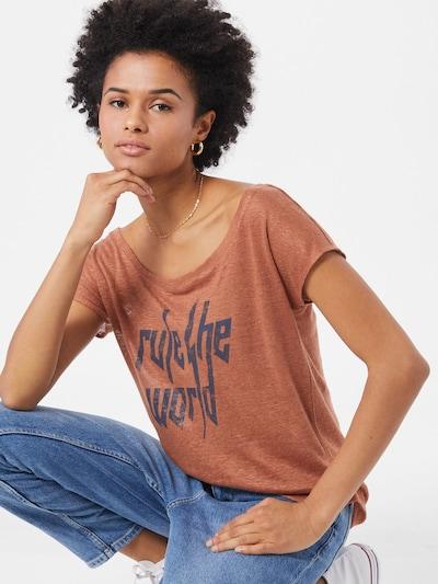 Marškinėliai 'Mathea' iš BE EDGY , spalva - mėlyna / omarų spalva: Vaizdas iš priekio