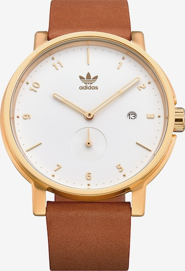 ADIDAS ORIGINALS Analoguhr in braun / gold / weiß, Produktansicht