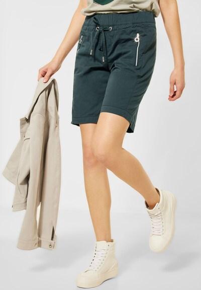 STREET ONE Pantalon en vert foncé, Vue avec modèle