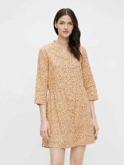 PIECES Kleid 'Lindsey' in oliv / mandarine / weiß, Modelansicht