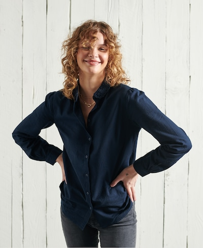 Superdry Blouse in marine blue, View model