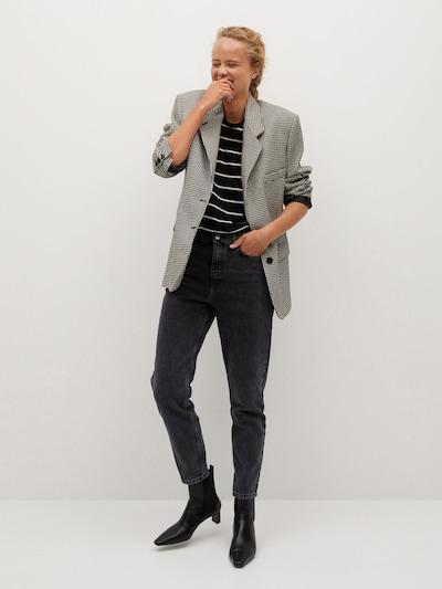 MANGO Jeans in black denim: Frontalansicht