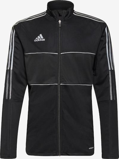 ADIDAS PERFORMANCE Trainingsjack 'Tiro' in de kleur Grijs / Zwart / Wit, Productweergave