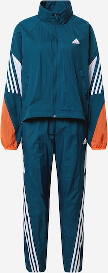 ADIDAS PERFORMANCE Sportsdragt i petroleum / orange / hvid, Produktvisning