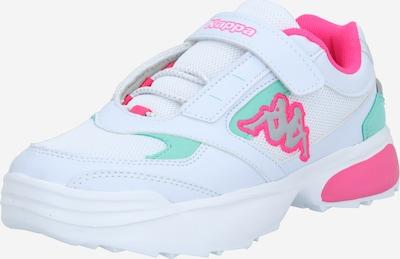 KAPPA Sneaker 'KRYPTON' in grau / mint / pink / weiß, Produktansicht