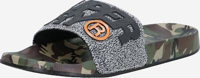 Superdry Nizki natikači | temno siva / kaki / oranžna / črna barva, Prikaz izdelka