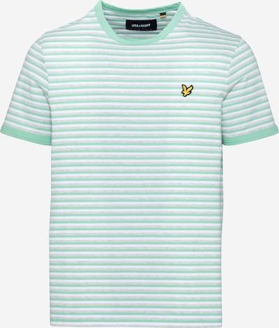 Tricou Lyle & Scott pe galben / gri amestecat / verde mentă / alb, Vizualizare produs