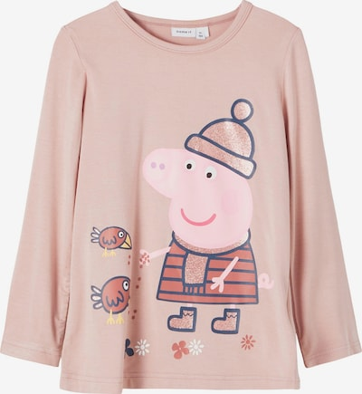 NAME IT Shirt 'Peppa Pig' in de kleur Blauw / Rosé / Donkerrood, Productweergave