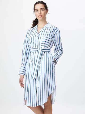 BOSS Casual Shirt Dress 'C_Disso' in Blue