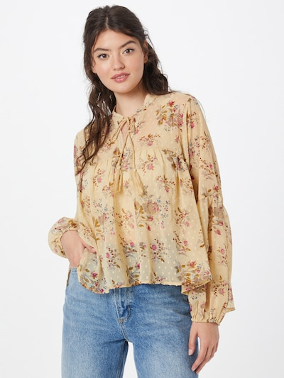 ONLY Blouse 'ELISA' in Beige / Blue / Taupe / Khaki / Dark pink, View model