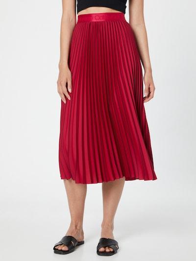 piros / fekete Calvin Klein Szoknyák 'Sunray': Elölnézet