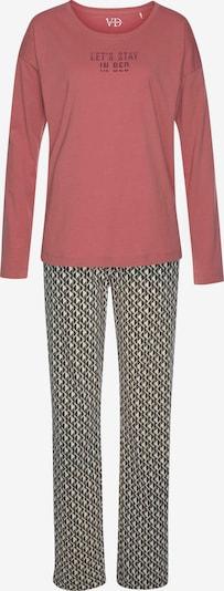 LASCANA Pyjama in mischfarben / rosa, Produktansicht