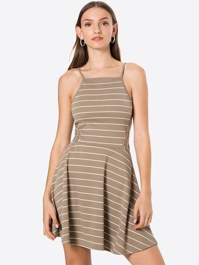 ONLY Kleid 'LOUI' in dunkelgrau / weiß, Modelansicht