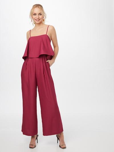 Tuta jumpsuit 'ECREPIN D1' NAF NAF di colore rosso vino, Visualizzazione modelli