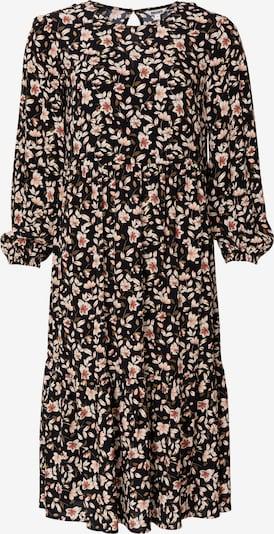 Indiska Kleid 'JULIA' in khaki / koralle / pfirsich / schwarz / weiß, Produktansicht