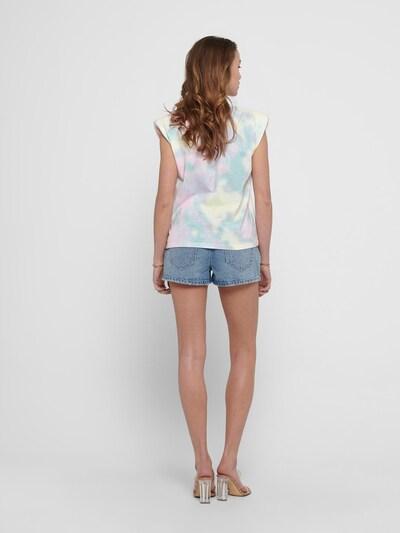 ONLY Shirt 'AMY' in türkis / rosa / weiß, Produktansicht