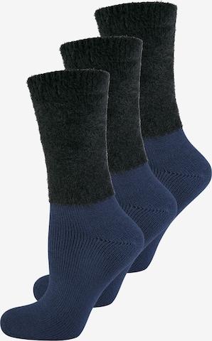 ELBEO Damensocken ' 3-Pack Cozy Winter ' in Blau