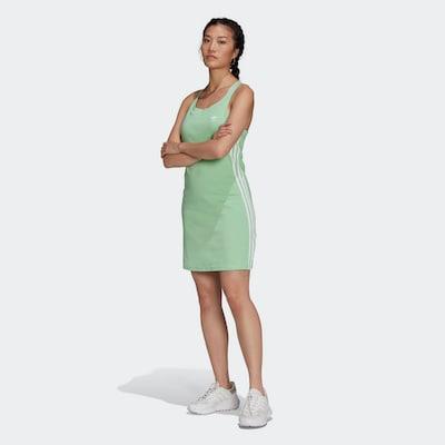 ADIDAS ORIGINALS Kleid in hellgrün / weiß, Modelansicht