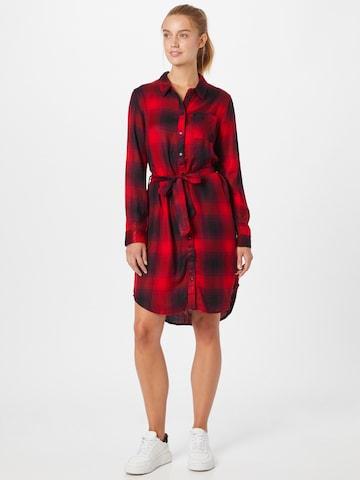 ONLY Košeľové šaty 'Riley' - Červená
