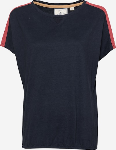Fli Papigu Shirt 'The 0909' in dunkelblau / pastellrot, Produktansicht