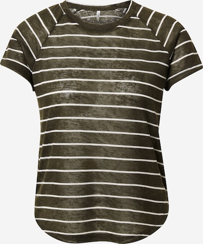 ONLY T-shirt 'YRSA' en vert foncé / blanc, Vue avec produit