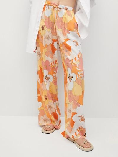 MANGO Kalhoty 'Janis' - žlutá / oranžová / pudrová / bílá, Model/ka