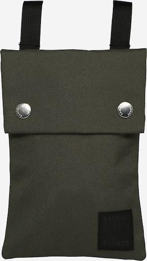 Samsoe Samsoe Schoudertas 'Cobett' in de kleur Olijfgroen / Zwart, Productweergave