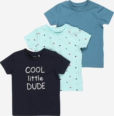 NAME IT Camiseta 'BORRIS' en azul ahumado / azul noche / ópalo / mezcla de colores / naranja oscuro, Vista del producto