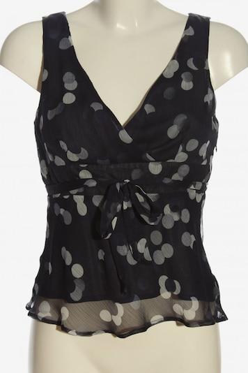 Maison 123 ärmellose Bluse in S in hellgrau / schwarz, Produktansicht