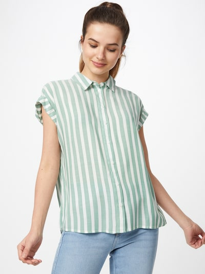 TOM TAILOR Blouse in de kleur Groen / Wit, Modelweergave