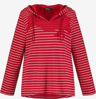 Ulla Popken Sweatshirt in rot / weiß, Produktansicht