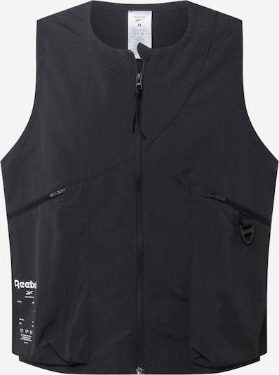 Reebok Sport Gilet de sport en noir / blanc, Vue avec produit