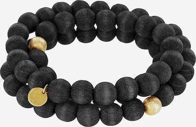 YOGISTAR.COM Armband in gold / schwarz, Produktansicht