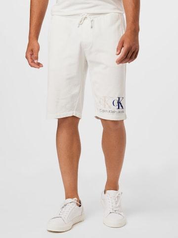 Calvin Klein Jeans Püksid '90'S DOUBLE MONOGRAM HWK SHORT', värv beež