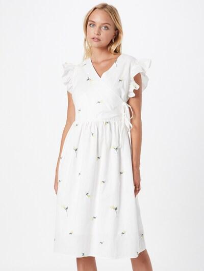 Love Copenhagen Kleid 'Finki' in gelb / dunkelgrün / weiß, Modelansicht