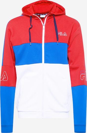 FILA Sudadera con cremallera deportiva 'JAMEL' en azul / rojo / blanco, Vista del producto