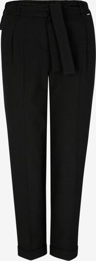 COMMA Bundfaltenhose in schwarz: Frontalansicht