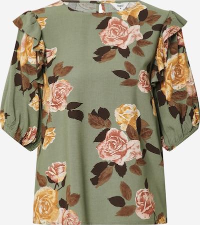OBJECT Bluse 'ROSE' in dunkelgrün / mischfarben, Produktansicht