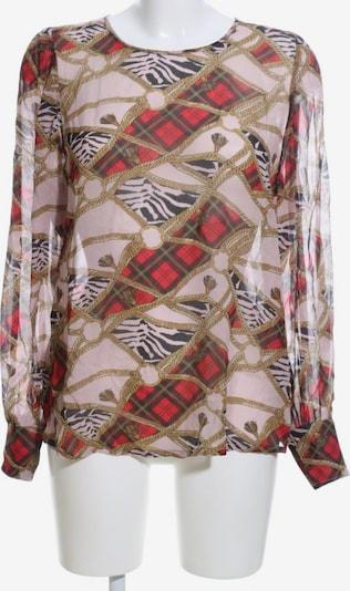 Summum Woman Transparenz-Bluse in S in braun / pink / rot, Produktansicht