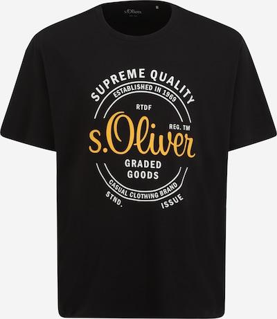 s.Oliver Red Label Big & Tall T-Shirt in gelb / schwarz / weiß, Produktansicht