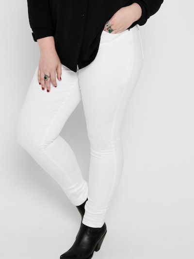 ONLY Carmakoma Jeans 'CarAugusta' in weiß, Modelansicht