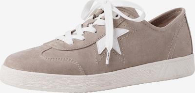 JANA Sneakers laag in de kleur Taupe / Wit: Vooraanzicht
